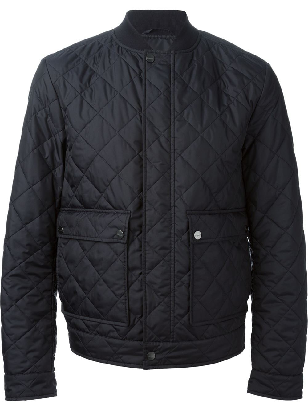 Ferragamo Quilted Jacket In Blue For Men Lyst