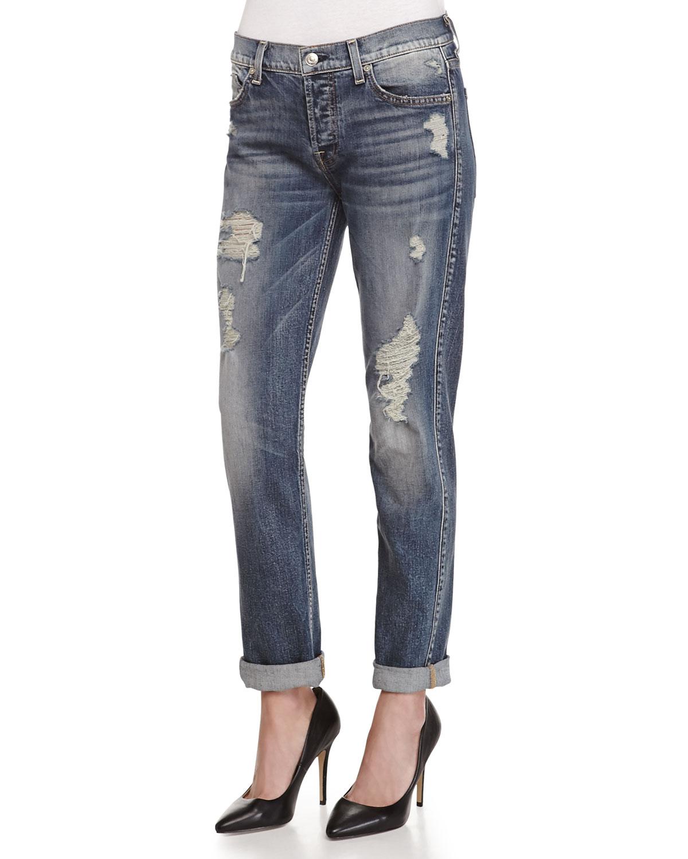 7 for all mankind josefina destroyed vintage denim jeans. Black Bedroom Furniture Sets. Home Design Ideas