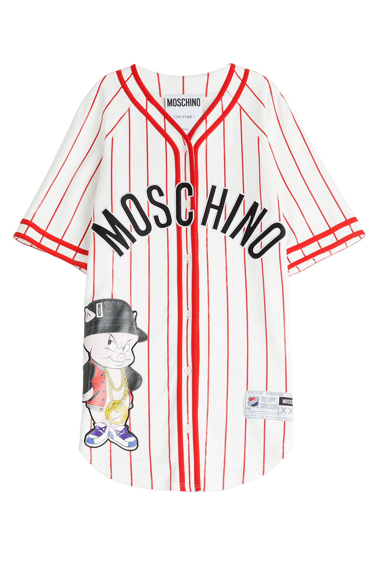 Moschino baseball jersey t shirt dress multicolor lyst for Baseball button up t shirt dress