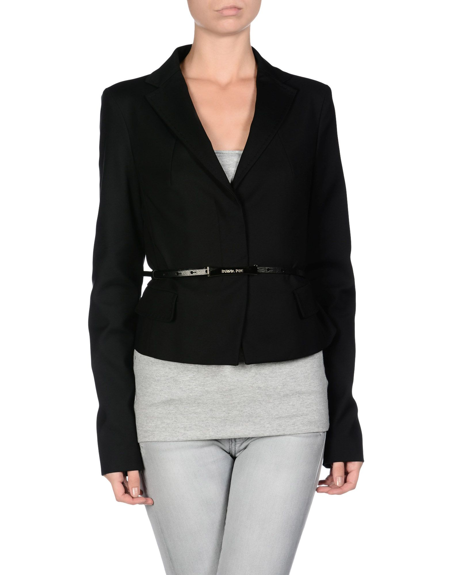 lyst patrizia pepe blazer in black. Black Bedroom Furniture Sets. Home Design Ideas