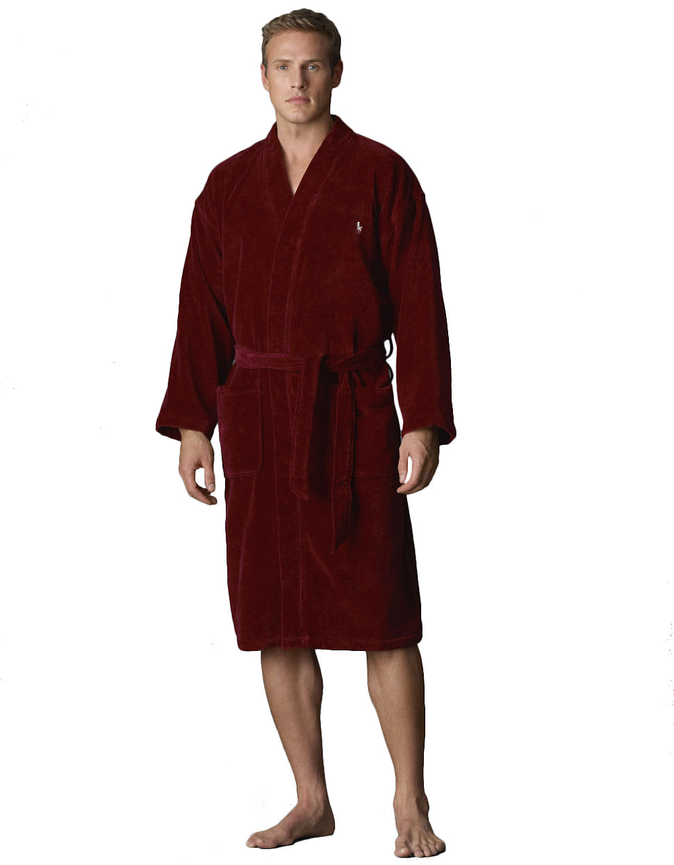 polo ralph lauren kimono velour robe in red for men lyst. Black Bedroom Furniture Sets. Home Design Ideas
