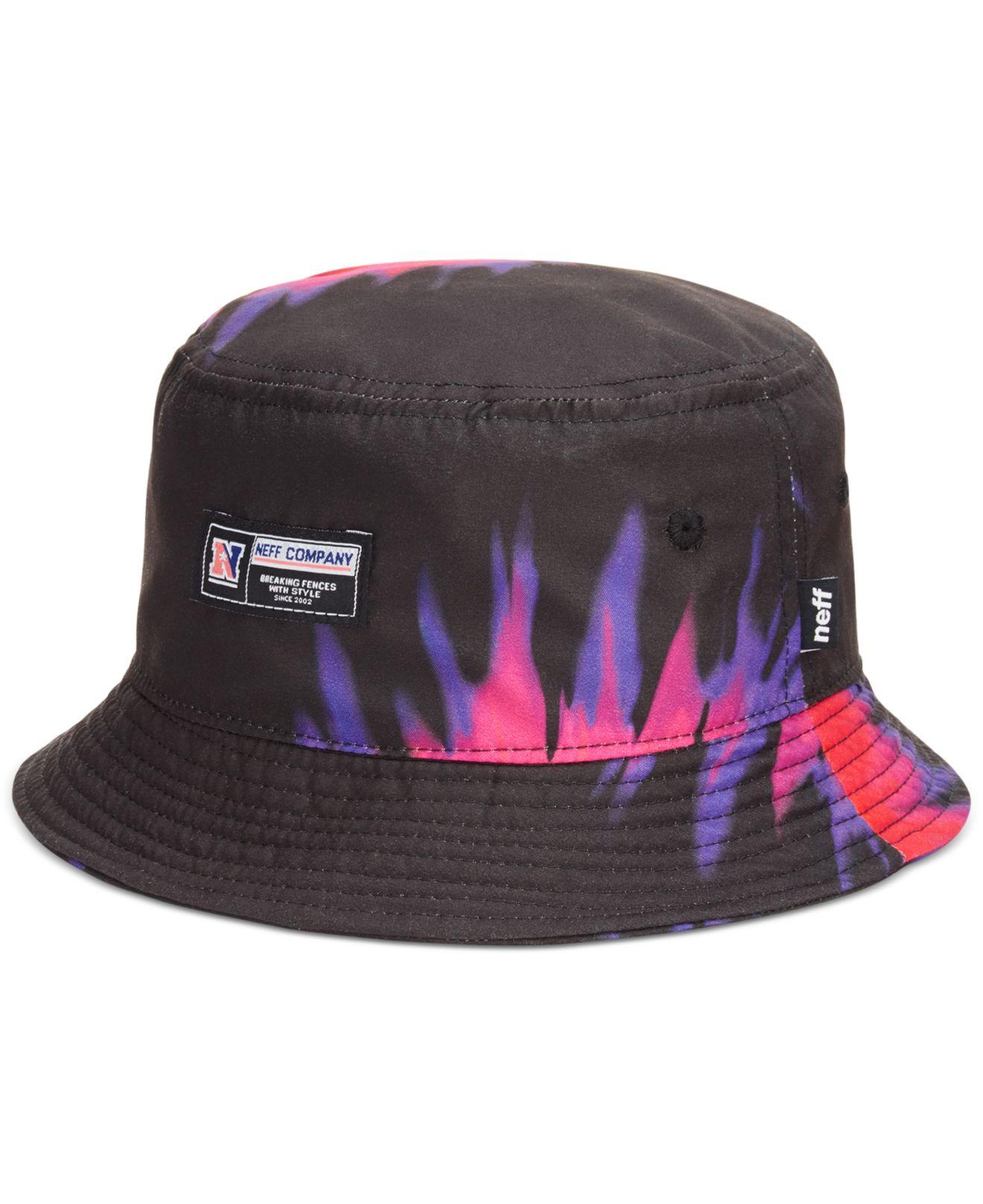 Lyst - Neff Tie-Dye Bucket Hat in Black for Men 86fe777fffd