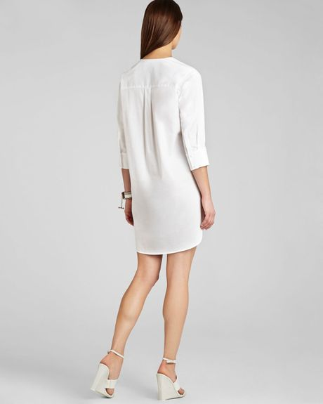 Bcbgmaxazria bcbg max azria dress braelyn in white lyst