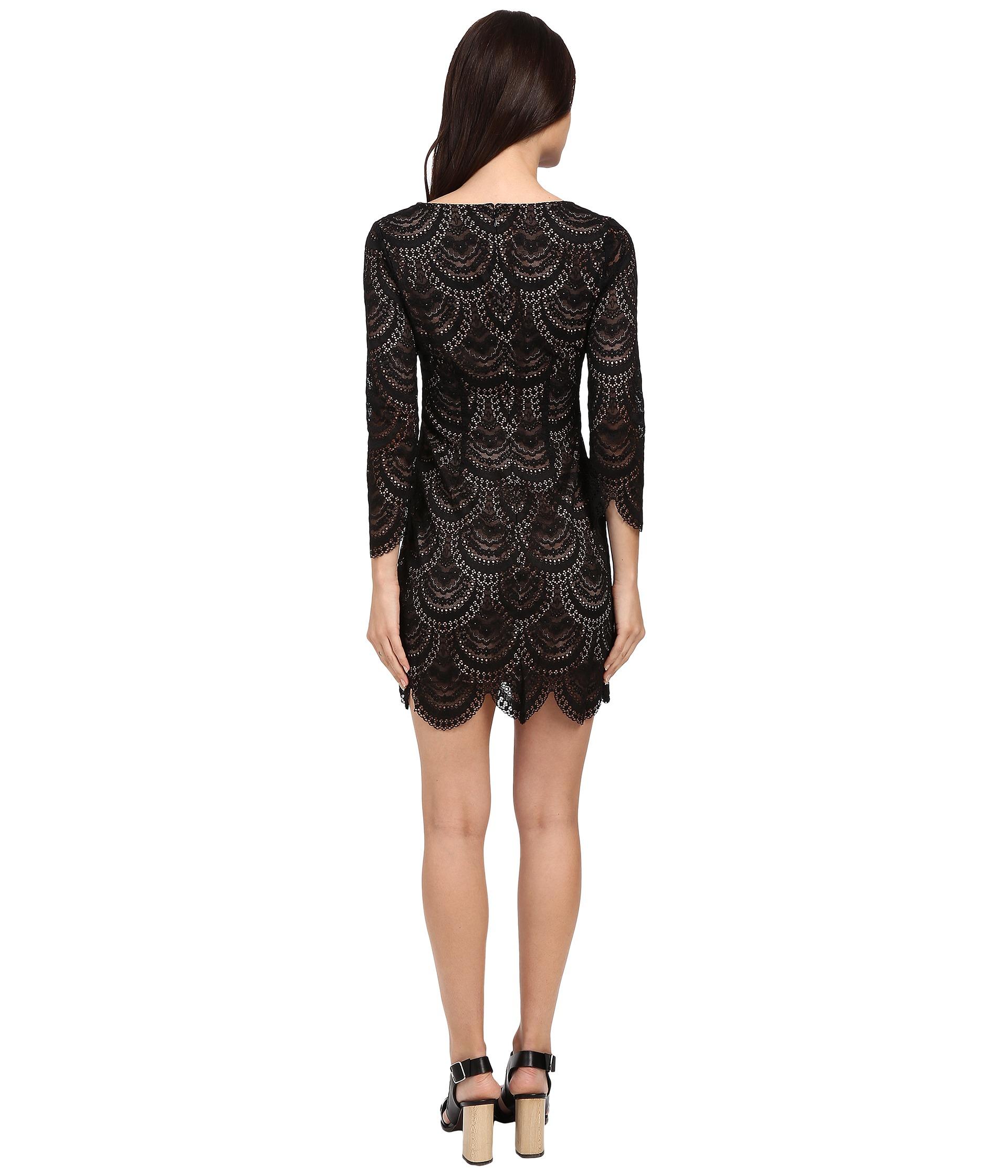 c3858f4da43d6 For Love & Lemons Rosalita Mini Dress in Black - Lyst