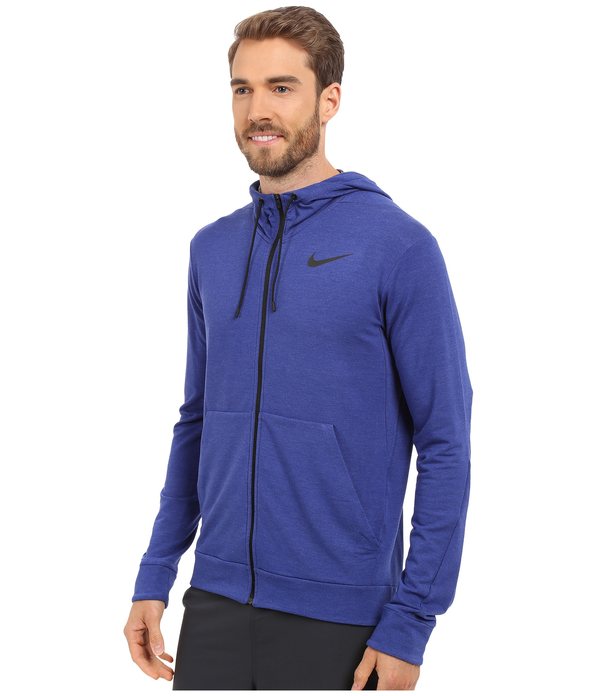 sale retailer f9ba8 35d97 Nike Dri-fit™ Fleece Full-zip Training Hoodie in Blue for Men - Lyst