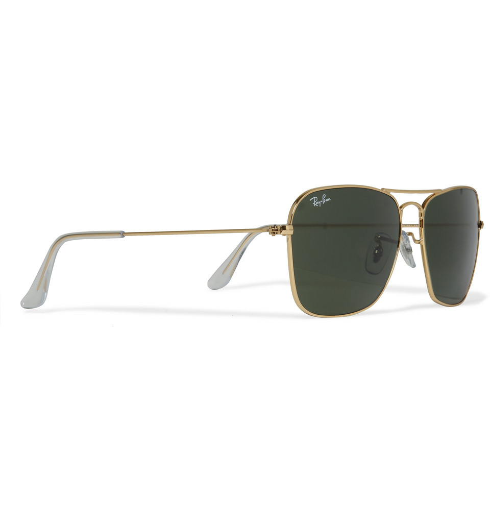 Lyst - Ray-Ban Caravan Metal D-Frame Sunglasses in Metallic for Men