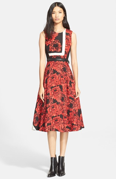 tulip belted strip reese dress Tracey
