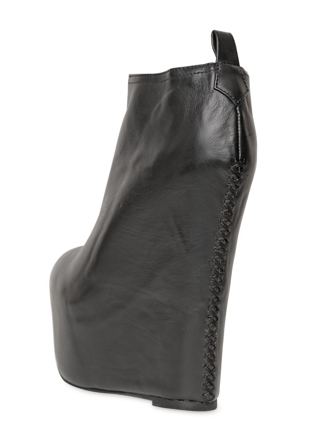 jeffrey cbell 160mm two leather wedge ankle boots in