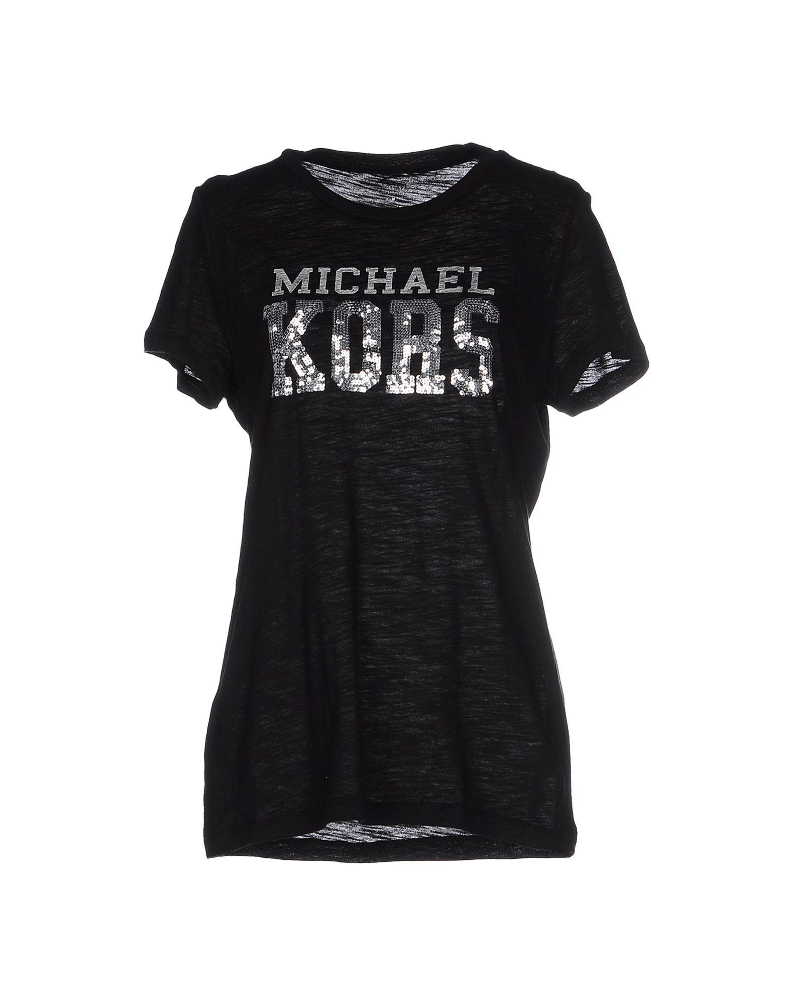 michael michael kors t shirt in black lyst. Black Bedroom Furniture Sets. Home Design Ideas
