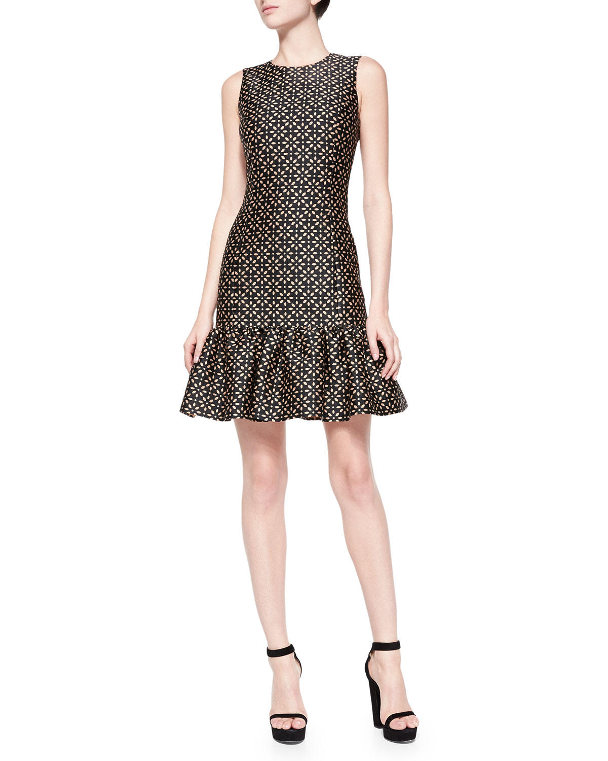 Michael kors Drop-Waist Sheath Dress With Ruffle Skirt in ...