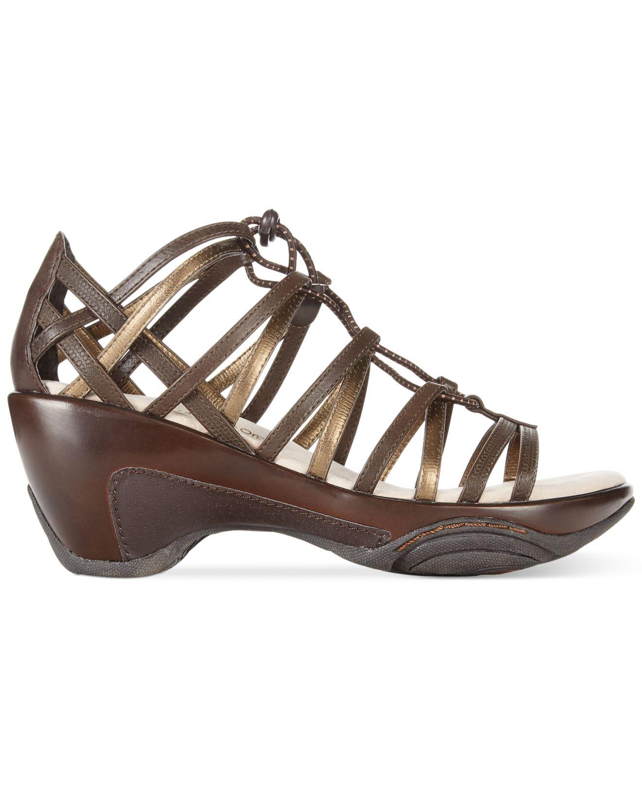e4cdc1deb83 Lyst - Jambu Jbu Women S Aphrodite Wedge Sandals in Brown