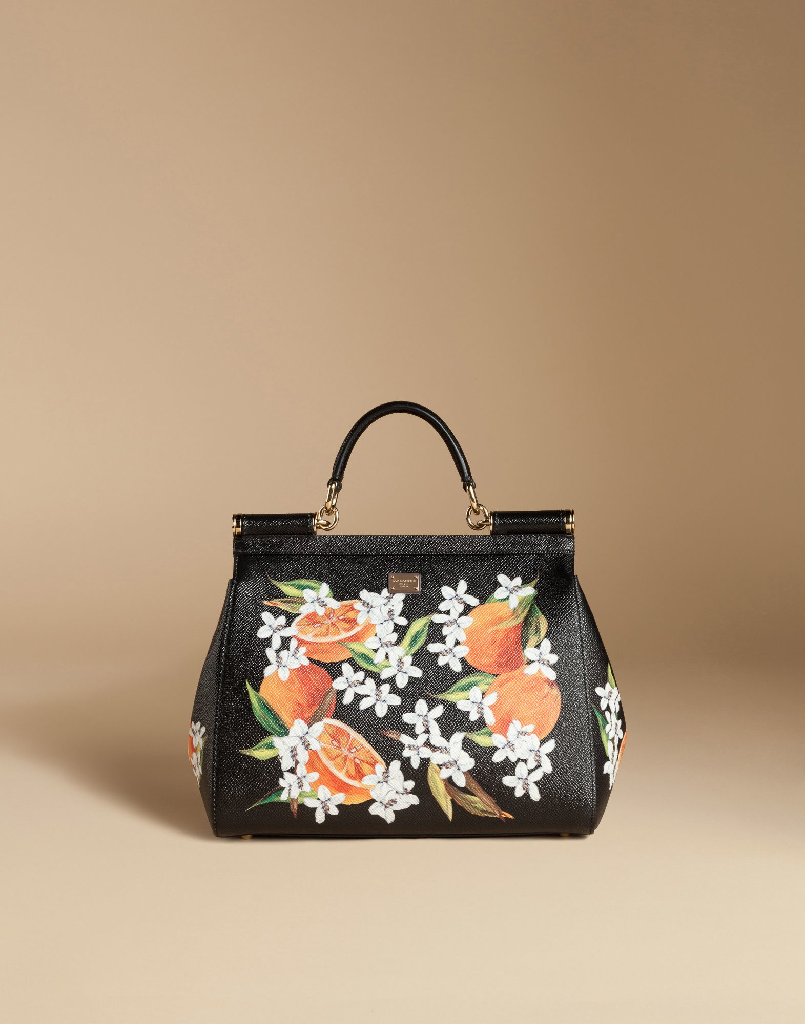 6ba020dab9e Dolce & Gabbana Medium Sicily Bag In Printed Dauphine Leather in ...