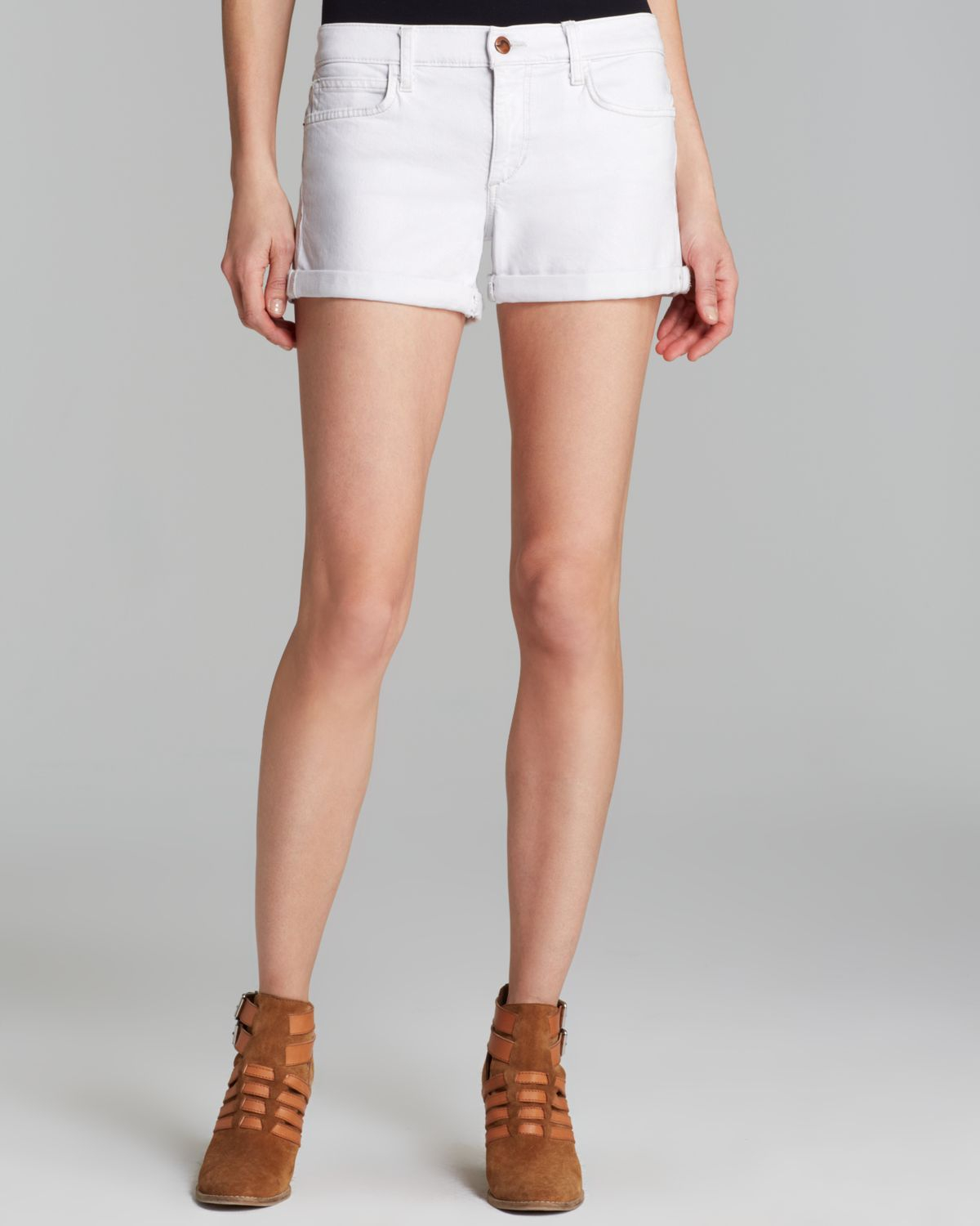 Joe&39s jeans Shorts Rolled in Pennie in White | Lyst