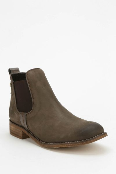 steve madden gilte ankle boot in brown lyst