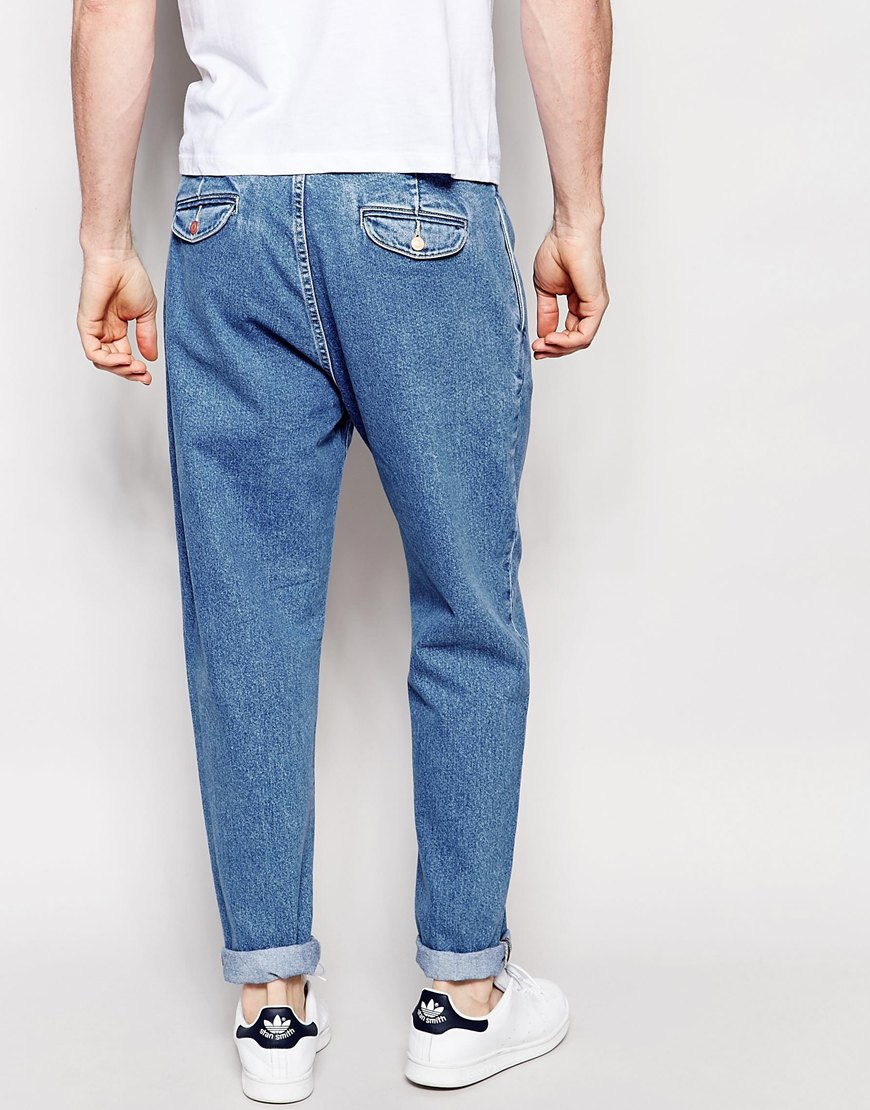 PLUS Double Pleat Straight Leg Jean In Light Blue - Light blue Asos vNLWtb9Ay