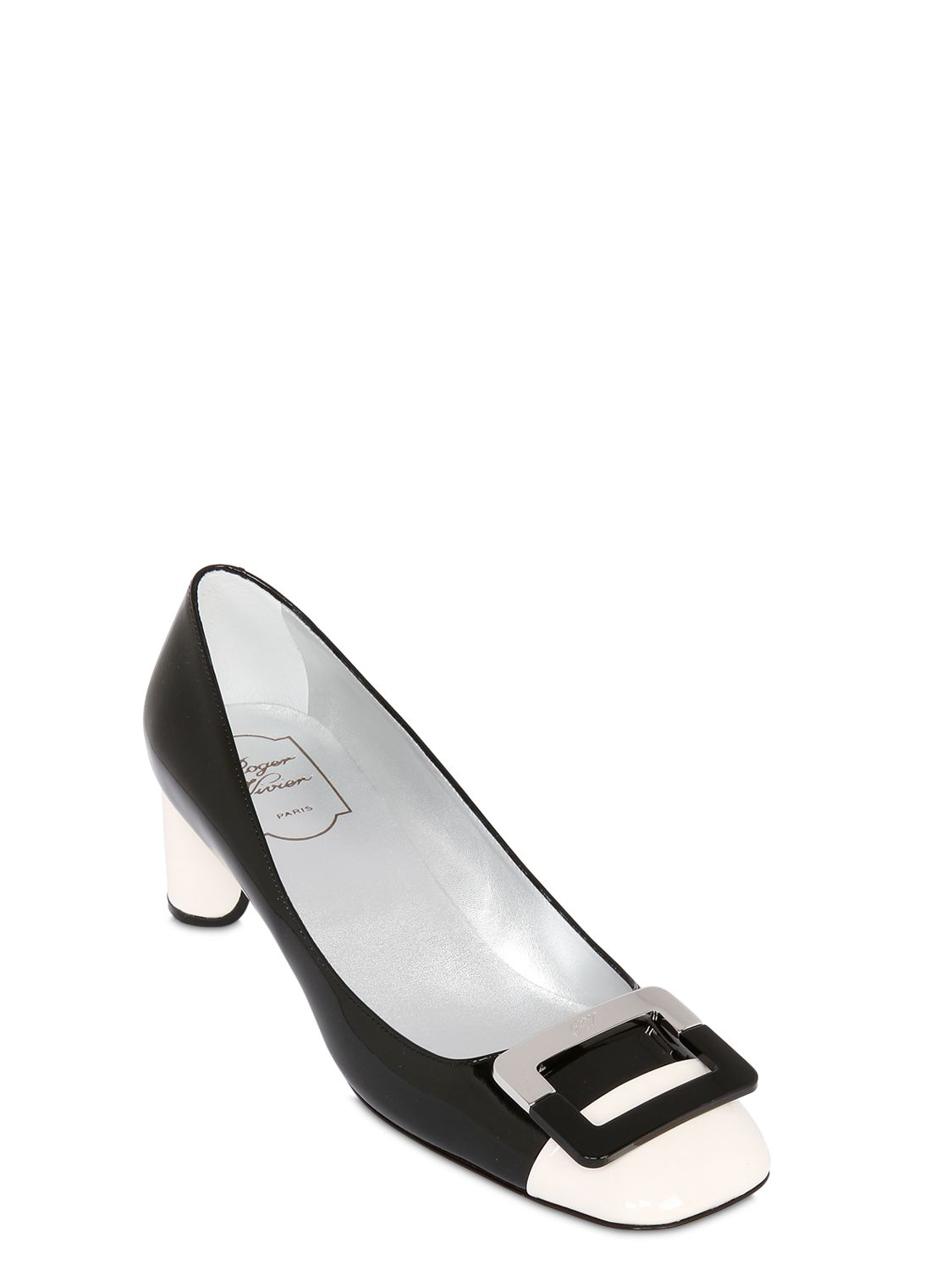 bebc9fd0e1 Roger Vivier 45Mm U Cut Patent Leather Pumps in Black - Lyst