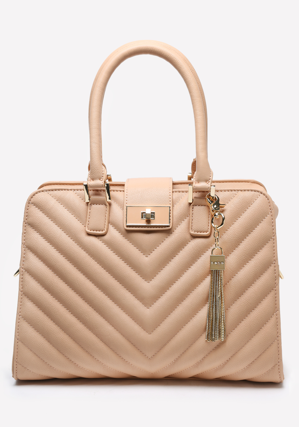 Bebe Misha Quilted Satchel in Natural | Lyst