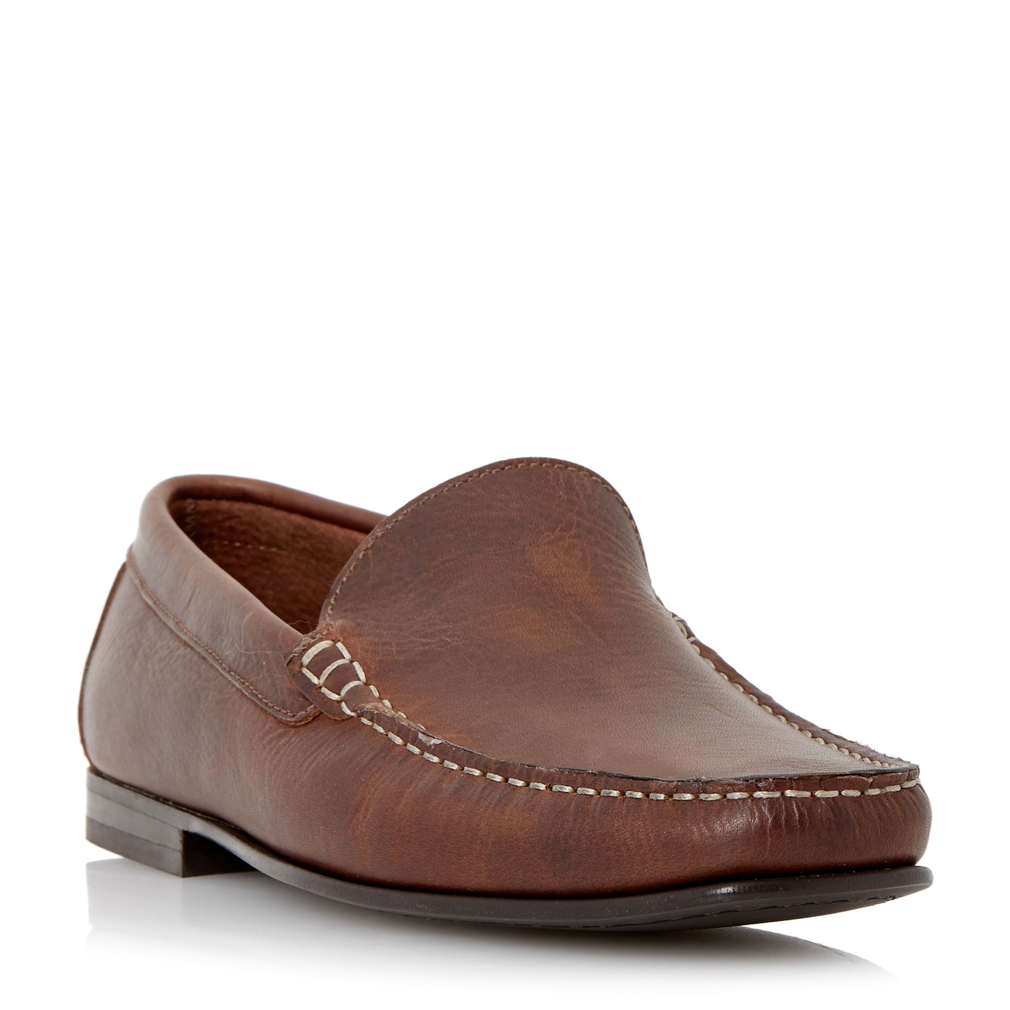 Mens Blk Moccasin House Shoes