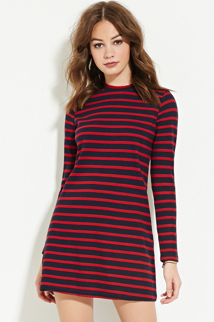 Lyst - Forever 21 Striped Sweater Dress 63b3a101b
