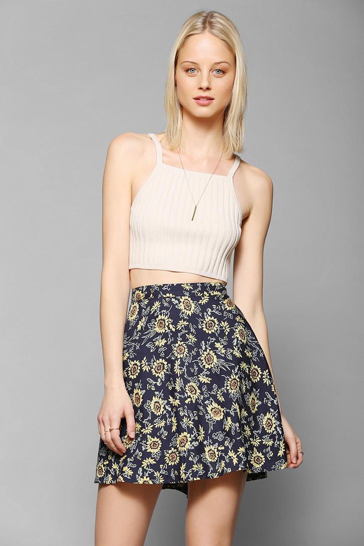 c2acbe348513 Kimchi Blue Printed Classic Circle Skirt - Lyst