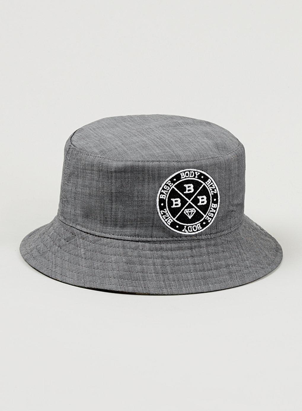 ffbafb1fdf2cf8 Lyst - TOPMAN Jamal Edwards Grey Chambray Reversible Bucket Hat for Men