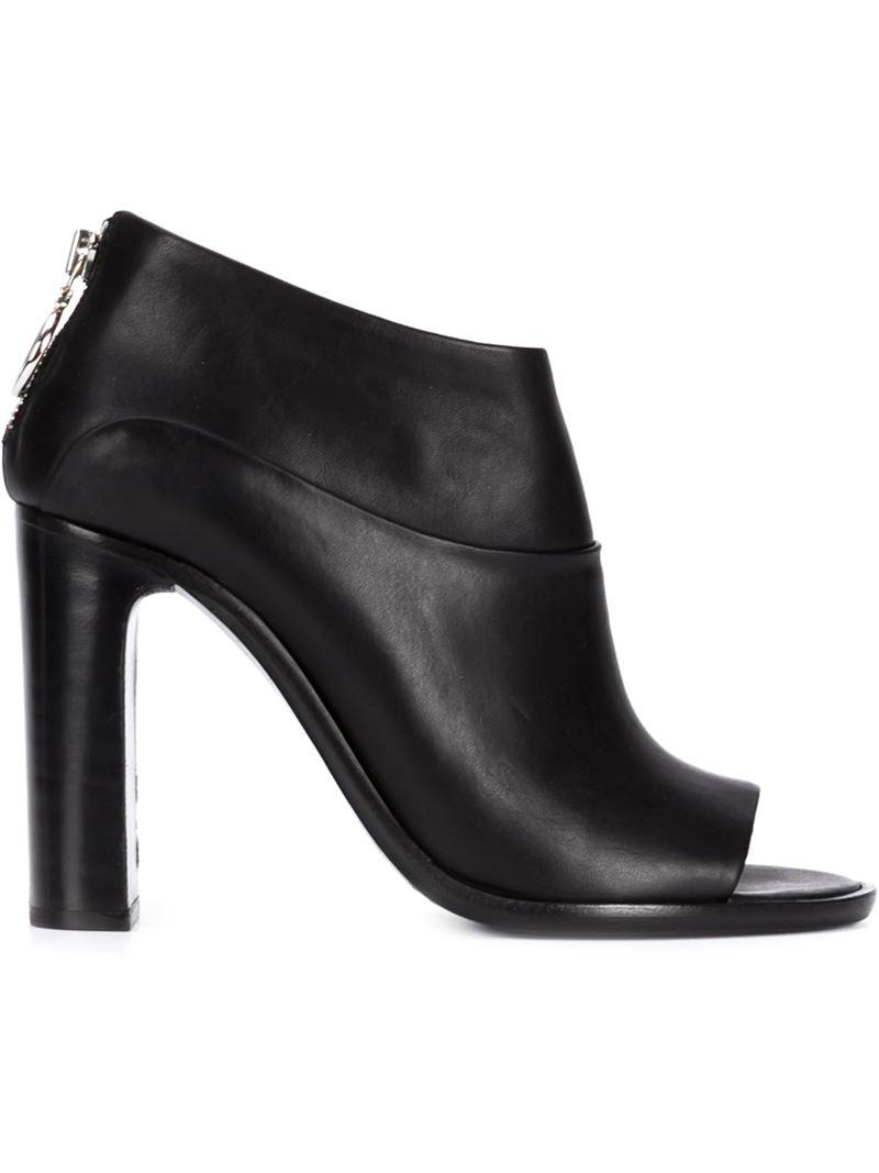 rag bone peep toe ankle boots in black lyst