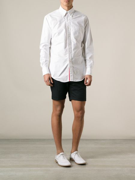 Thom browne oxford shirt in white for men lyst for Thom browne white shirt