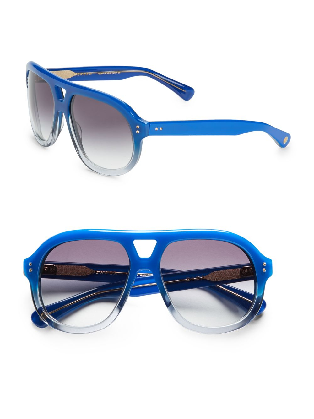 Dita eyewear Mercer Two-tone Aviator Sunglasses in Blue ... Dita Eyewear