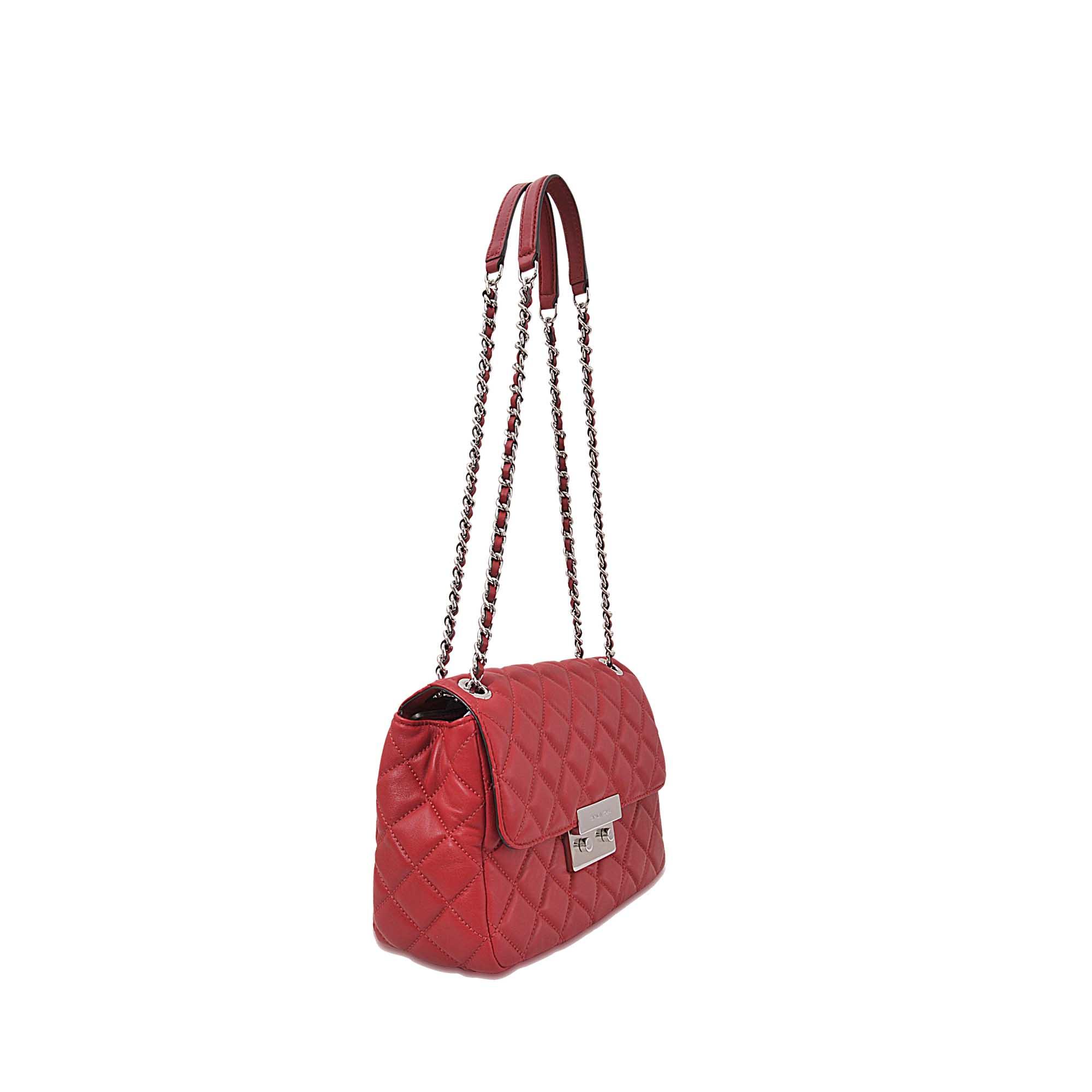 30ddd822feb Lyst - MICHAEL Michael Kors Sloan Lg Chain Shoulder Bag in Red