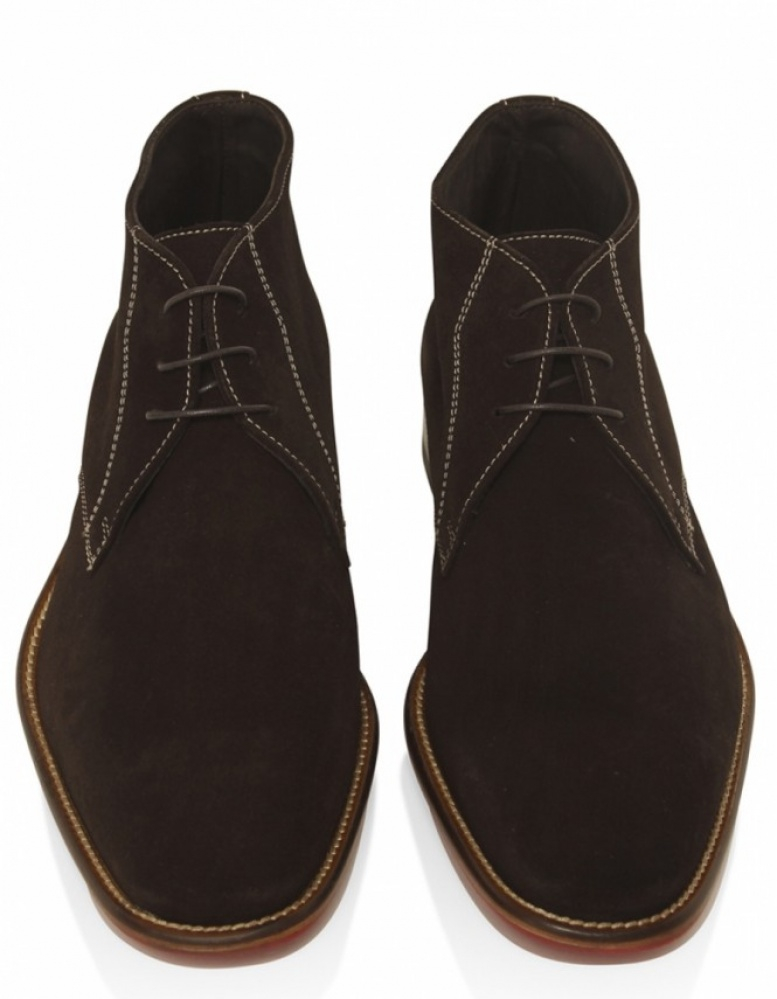 Joss Suede Chukka Boots in Brown for Men | Lyst