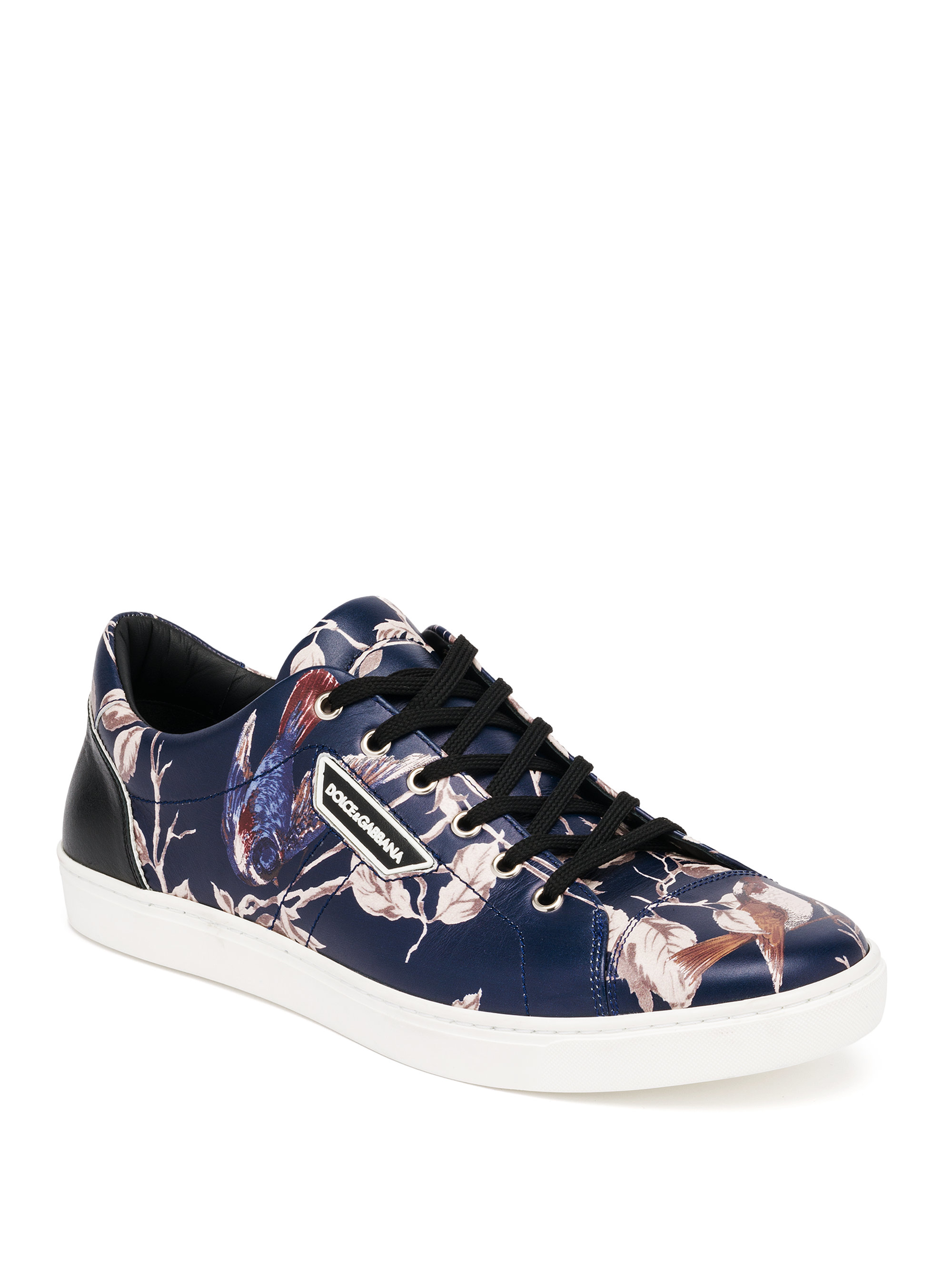 Dolce Amp Gabbana London Bird Print Sneakers For Men Lyst