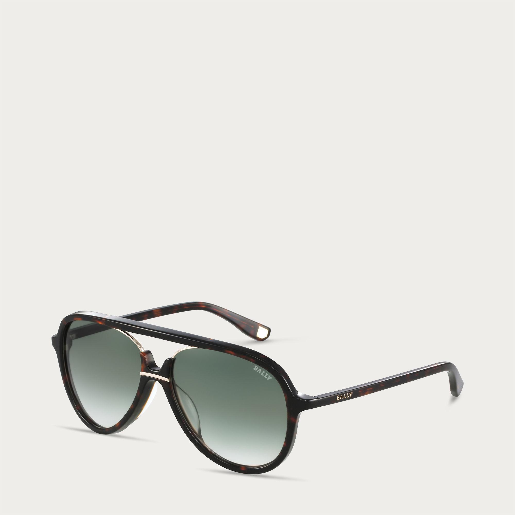 06837293e9 Bally Aviator Sunglasses Men's Thick Frame Aviator Sunglasses In ...