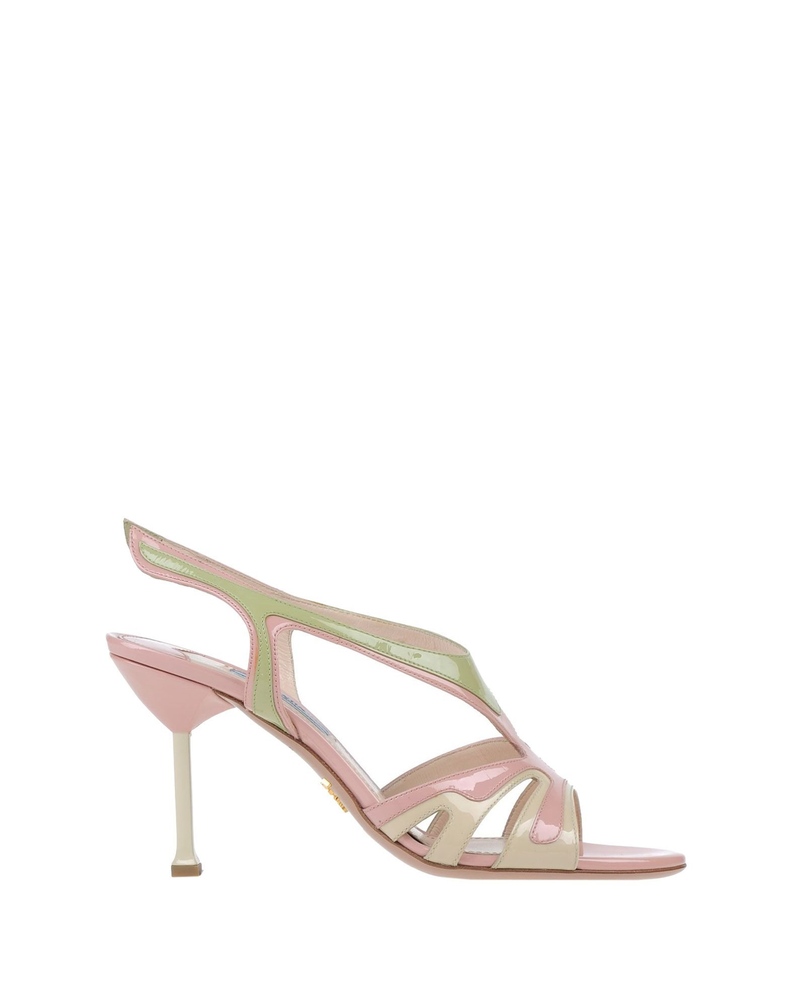 prada sandals in pink lyst
