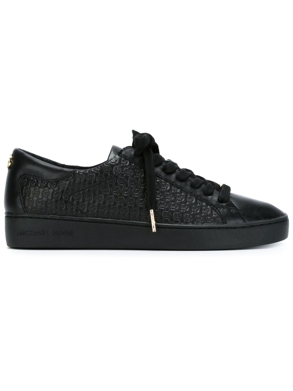 michael kors 39 breck 39 sneakers in black lyst. Black Bedroom Furniture Sets. Home Design Ideas