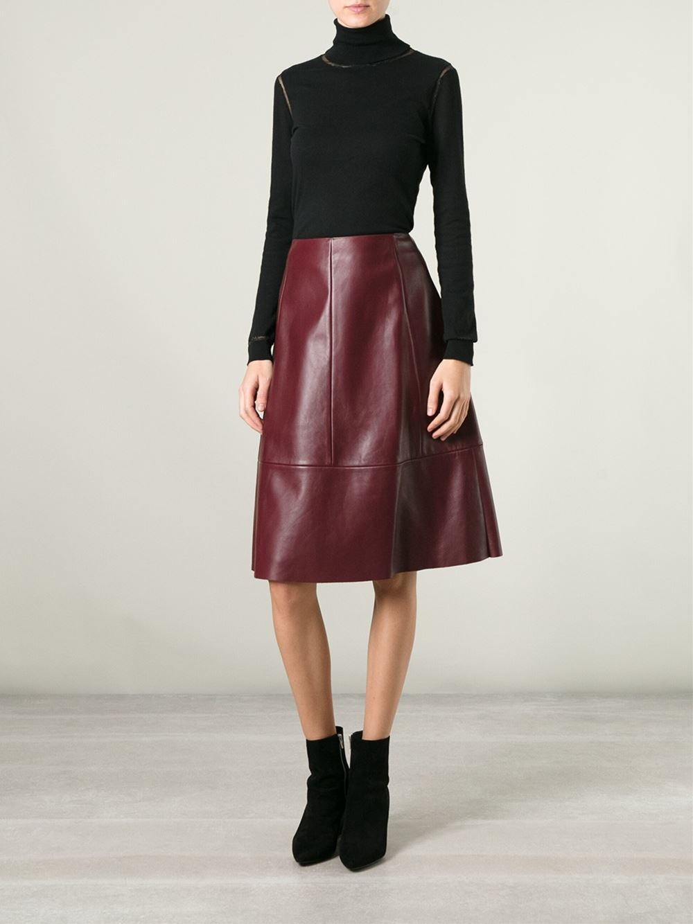 pretty nice good out x Sales promotion DROMe Leather A-line Skirt in Red - Lyst