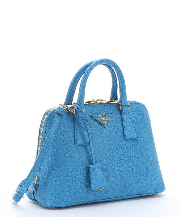 Prada Sky Blue Saffiano Leather Mini \u0026#39;promenade\u0026#39; Convertible ... - prada galleria bag baltic blue
