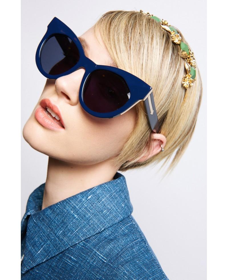 49bb9c59132da Karen Walker Starburst Sunglasses in Blue - Lyst
