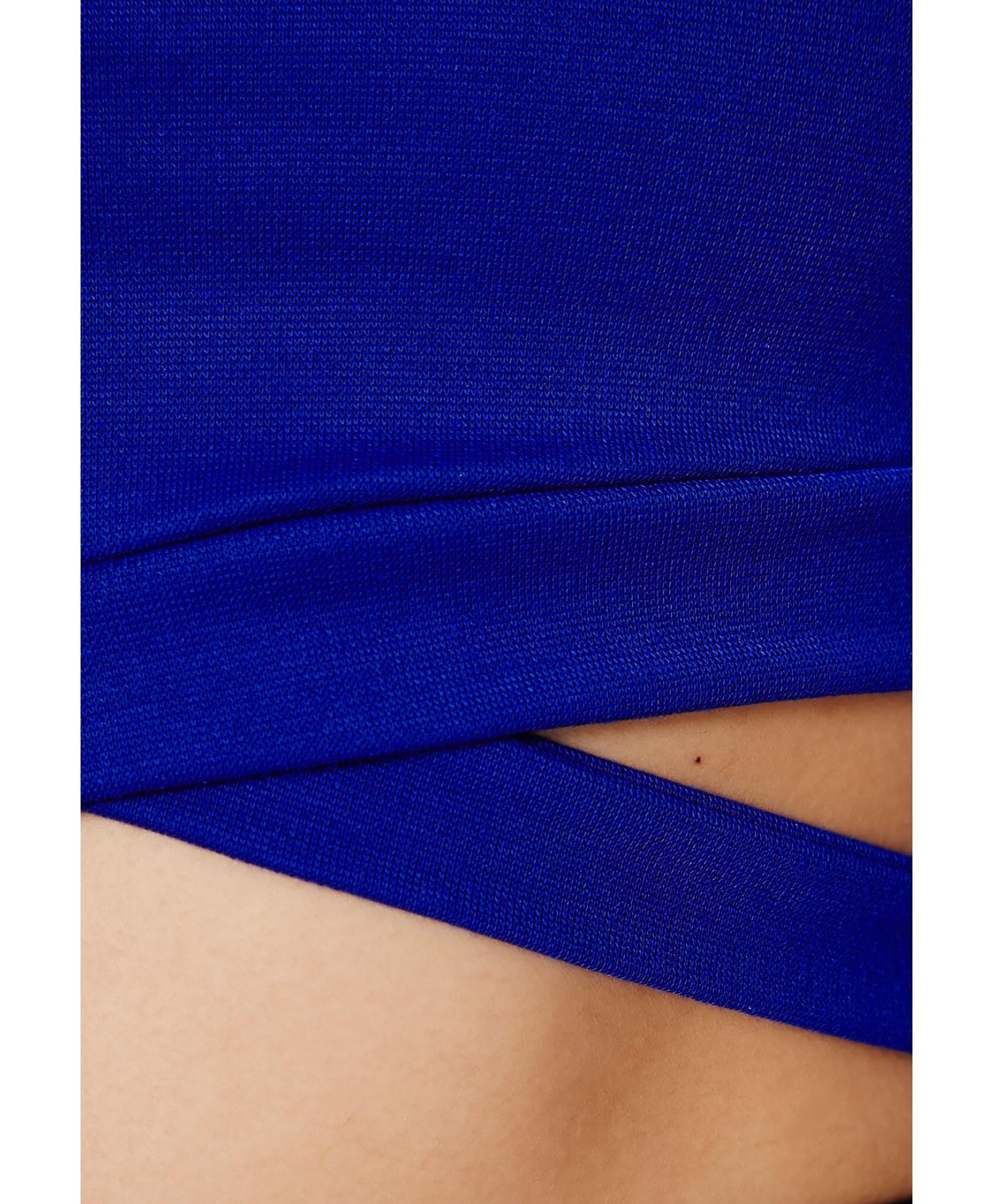 4f6af1428f2142 Lyst - Missguided Chara Bandage Waist Crop Top in Cobalt Blue in Blue