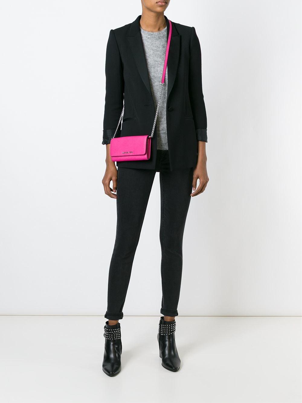 fe8df7090daf MICHAEL Michael Kors 'jet Set Travel' Wallet Crossbody Bag in Pink ...