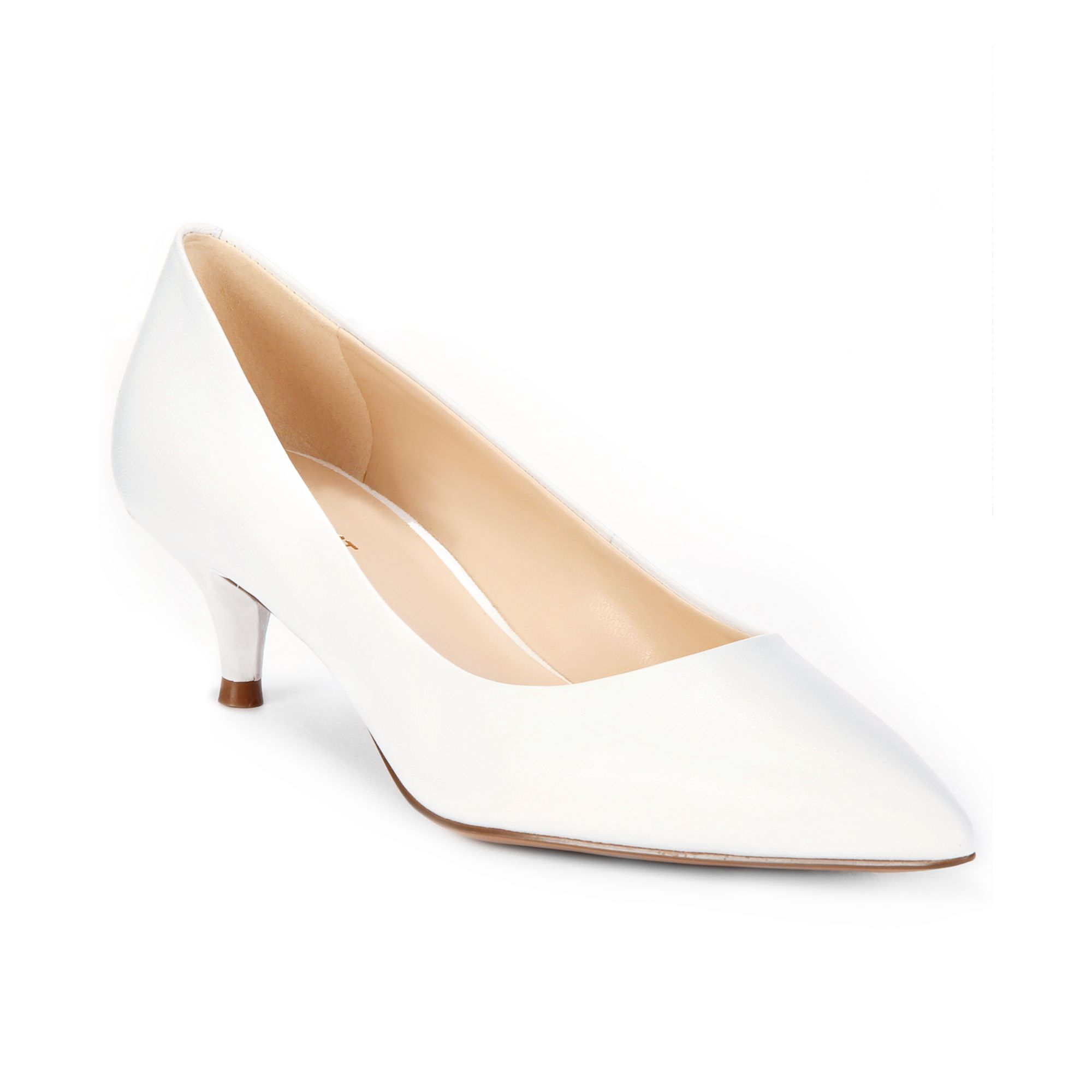Nine west Illumie Kitten Heel Pumps in White | Lyst