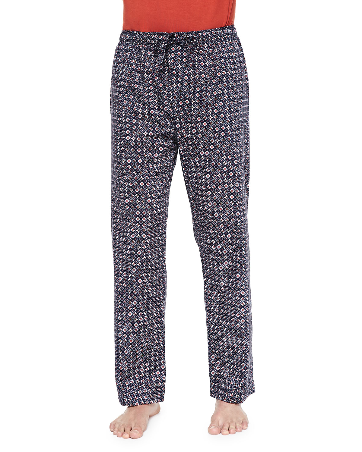 Lyst Derek Rose Star Print Batiste Lounge Pants In Blue