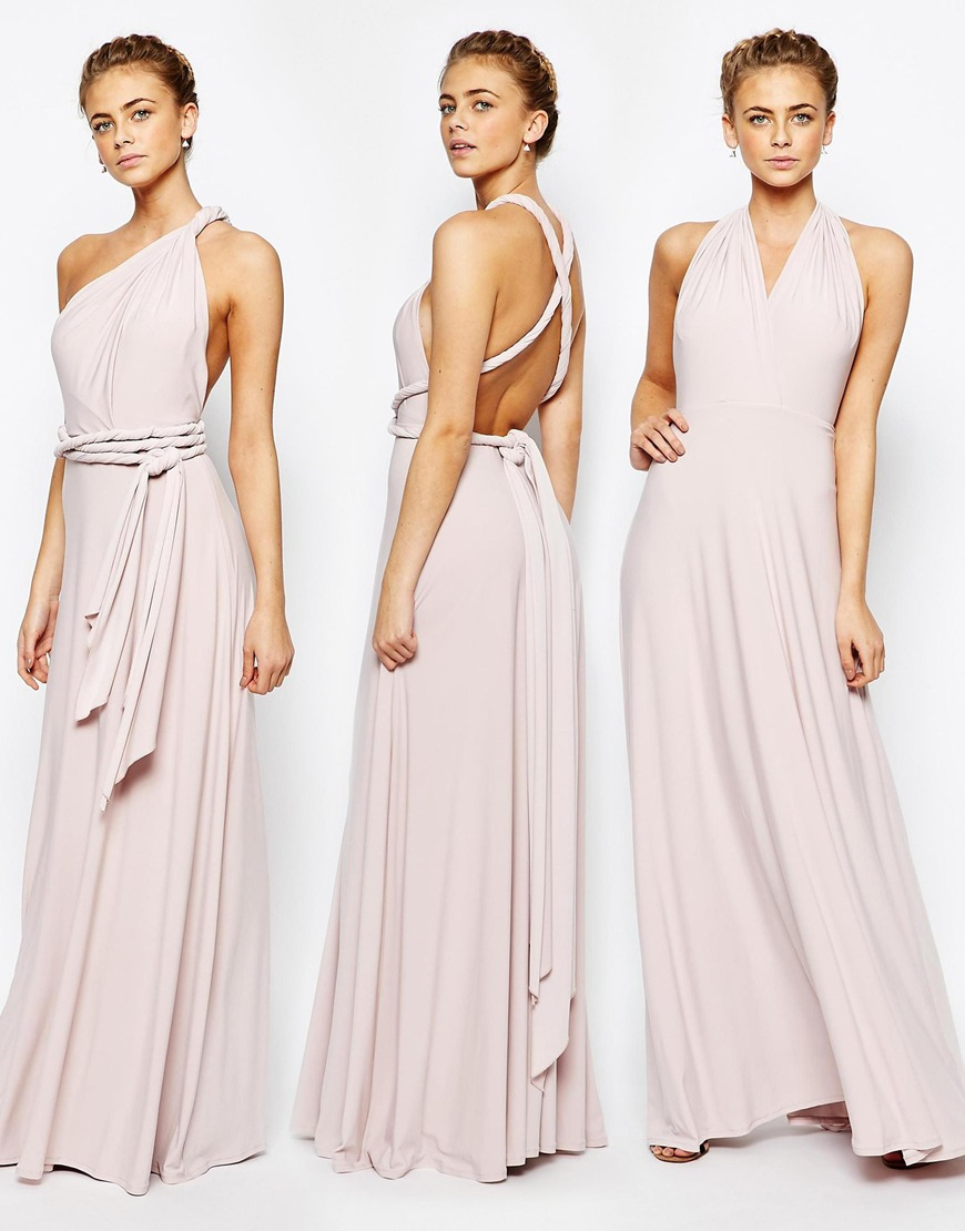 Lyst Coast Corwin V Neck Multiway Maxi Dress In Blush In