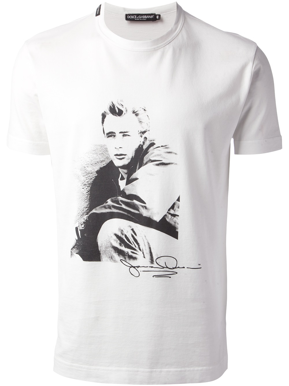 c264171402391f Dolce & Gabbana James Dean Tshirt in White for Men - Lyst