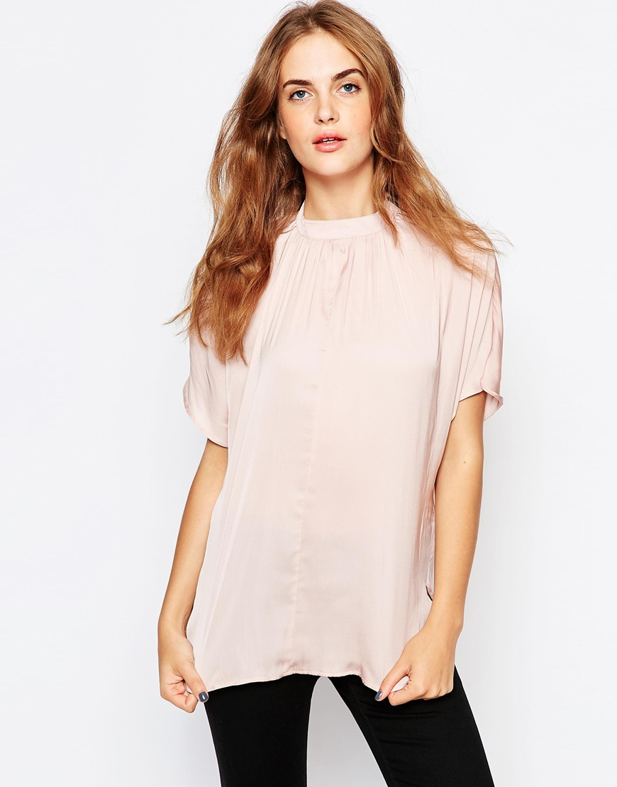 B YOUNG Ruffle High Neck Blouse Get Authentic Cheap Price Discount Best Seller Cheap Real Authentic PvDICeL