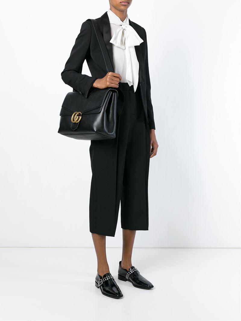f9ba477d749 Gucci Marmont Shoulder Bag in Black - Lyst