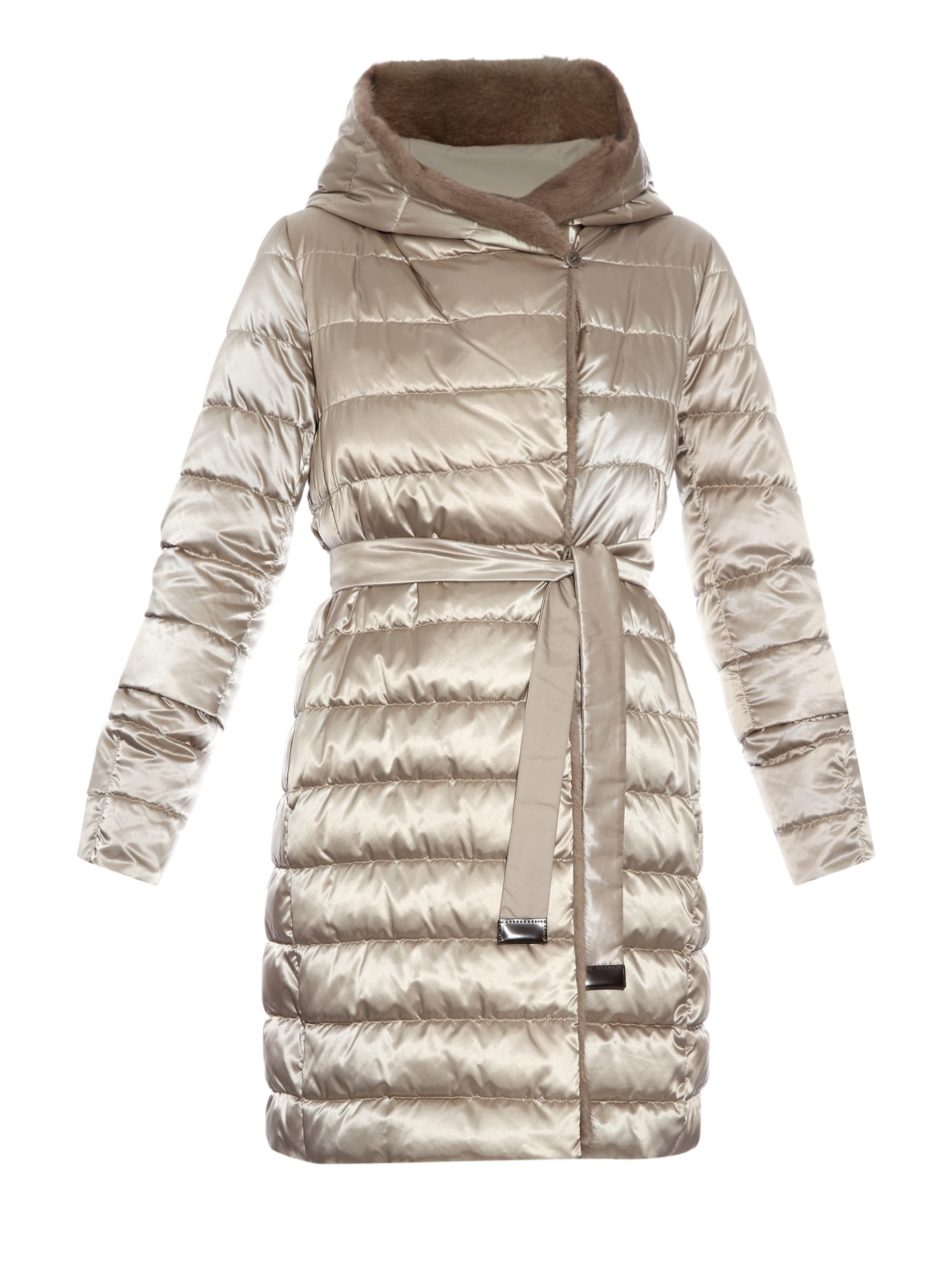 Lyst S Max Mara Cube Noveuu Reversible Coat In Natural