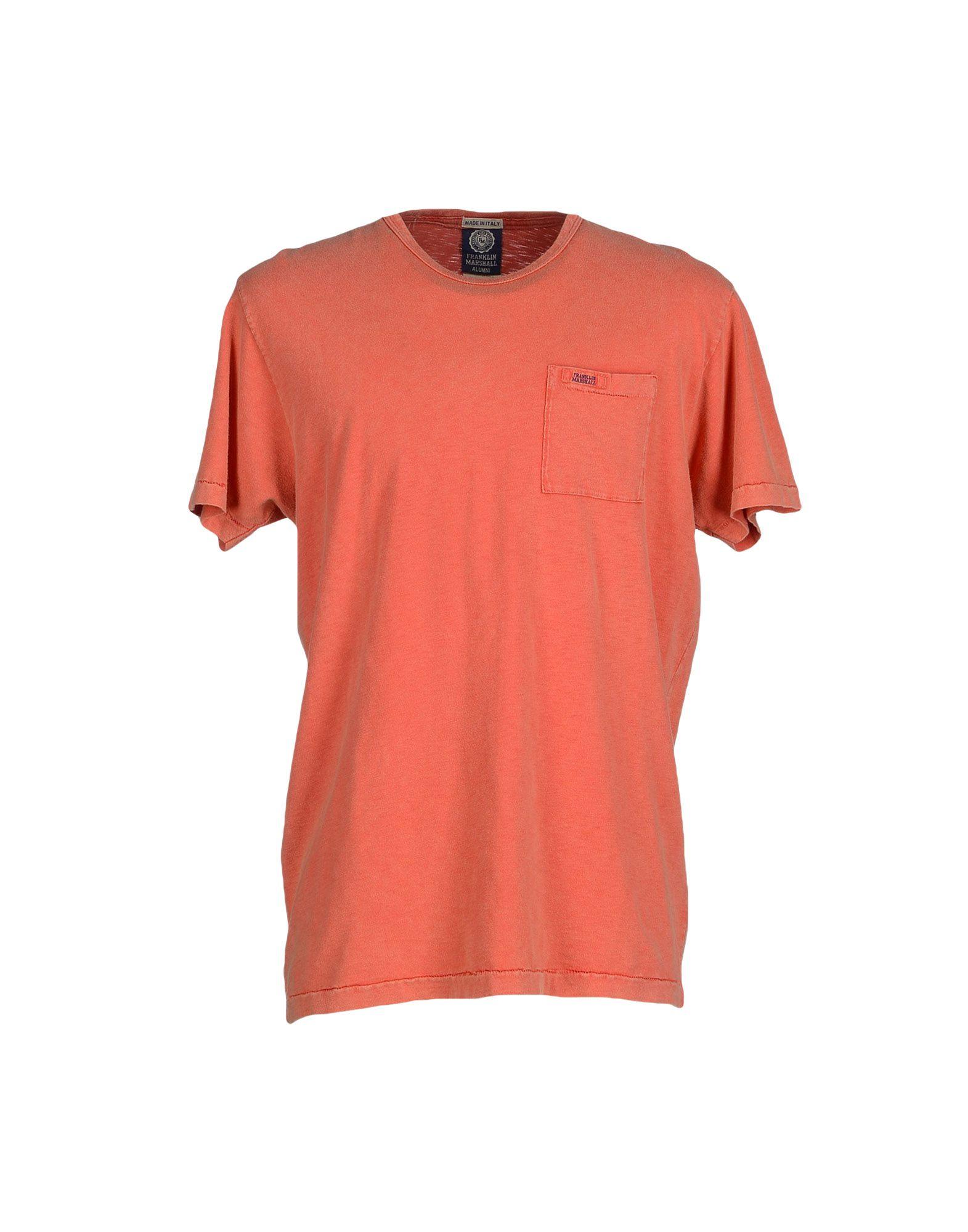 Franklin Marshall T Shirt In Orange For Men Lyst