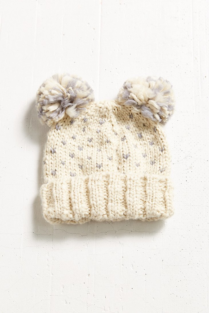 3aa44400b1e Lyst - Urban Outfitters Animal Ears Beanie in Natural