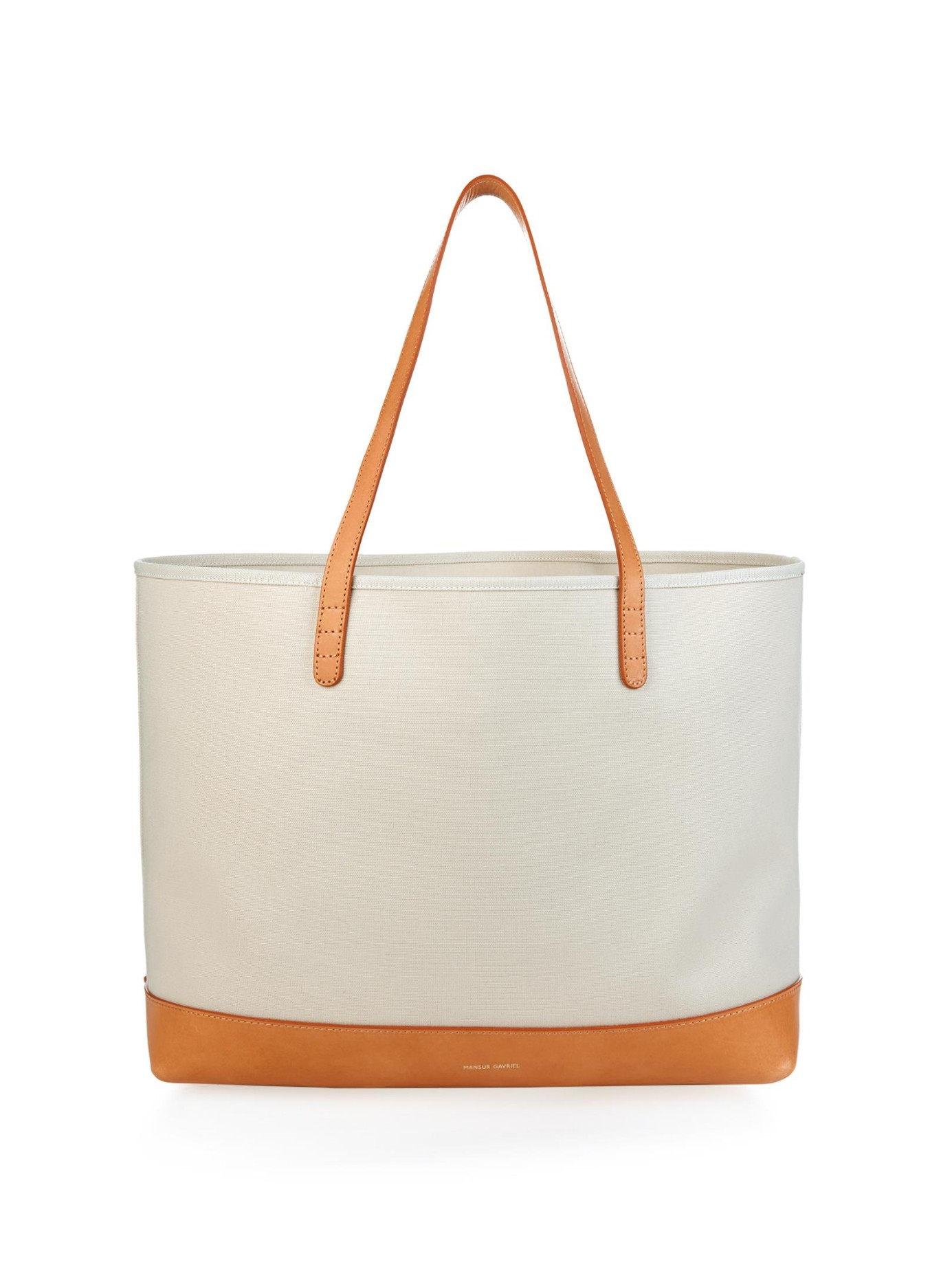 d6dd5b1c83 Lyst - Mansur Gavriel Large Canvas And Leather Tote in White