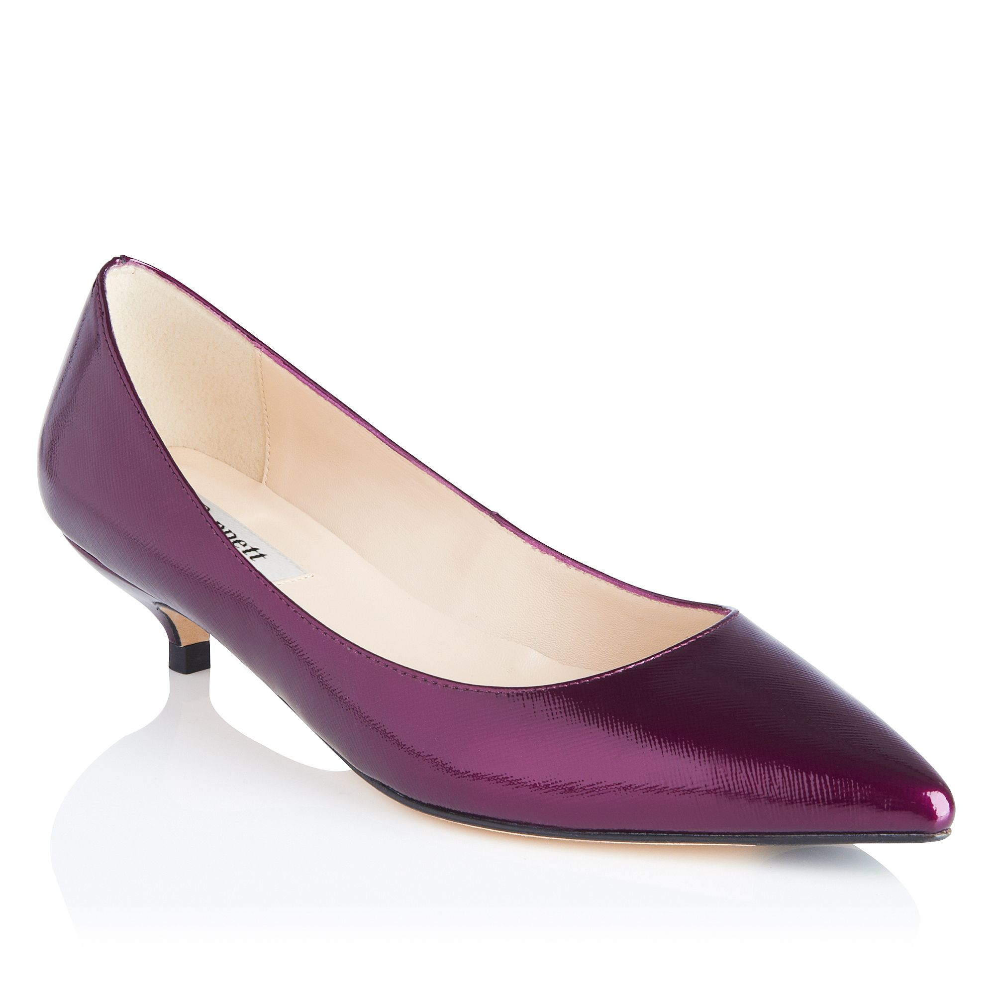 L.k.bennett Kitty Patent Leather Mini Kitten Heel Shoes in Purple